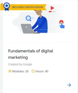 Course on Artificial Intelligence and Digital Marketing by Google | With Certification