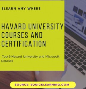 Havard University Courses and Certification